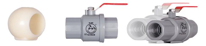 Plastic globe valve - Inox steel handle- Lace Inside