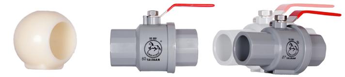 Plastic globe valve - Inox steel handle